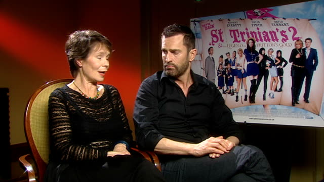 Interview with cast of St Trinian's 2 The Legend of Fritton's Gold Imrie and Everett interview SOT On quality of girls in cast / On working in...