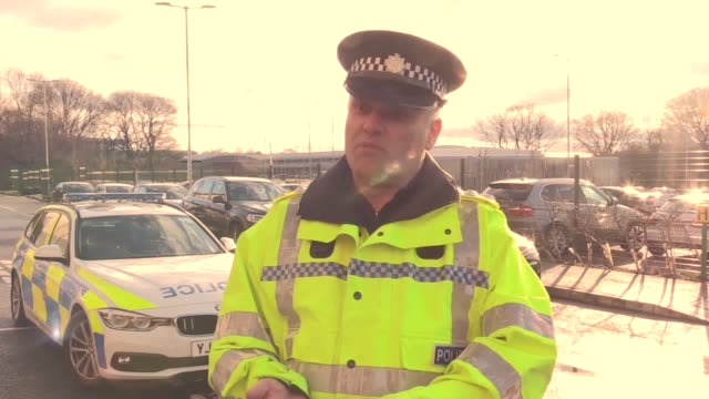 interview with chief inspector ian williams of west yorkshire police followed by a demonstration of a new mobile fingerprint scanning system which... - west yorkshire stock-videos und b-roll-filmmaterial