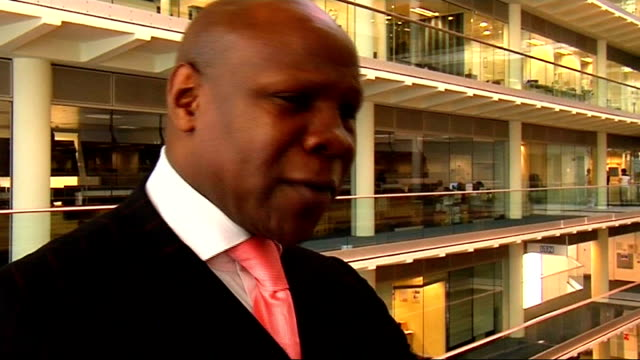 interview with chris eubank; chis eubank interview sot - competition is not about celebrity / hard work is the only way / on the likelihood that joe... - chris eubank sr. stock videos & royalty-free footage
