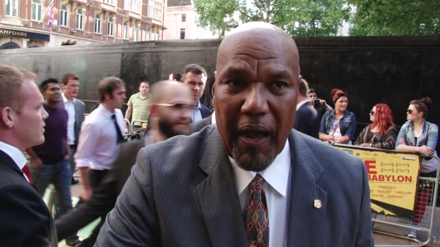 Interview with Colin Croft Fire in Babylon European Premiere on May 09 2011 in London England