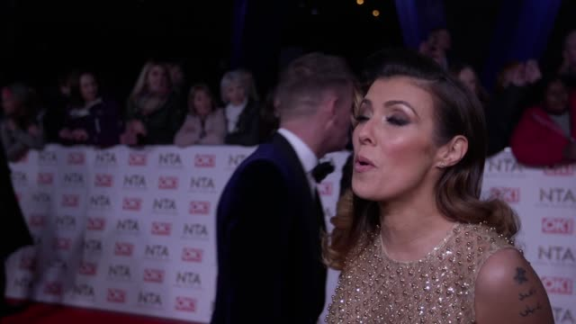 Interview with Coronation Street's Antony Cotton and Kym Marsh at the National Television Awards 2017