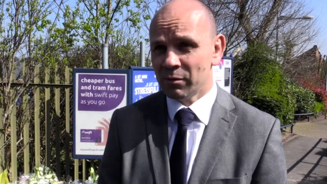 interview with dci paul langley of british transport police about the fatal stabbing of anthony banting after he got off a tram in handsworth... - handsworth stock-videos und b-roll-filmmaterial