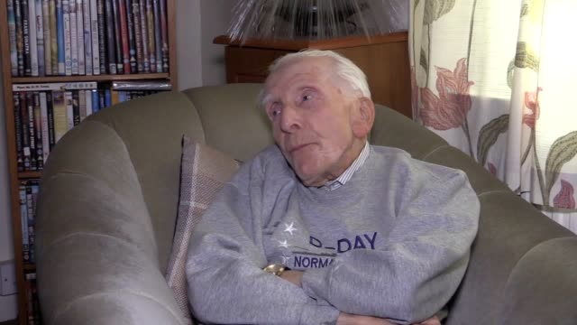 interview with dday veteran harry billinge ahead of the 75th anniversary of the historic landings in normandy the 93yearold will be making a final... - pilgrimage stock videos & royalty-free footage