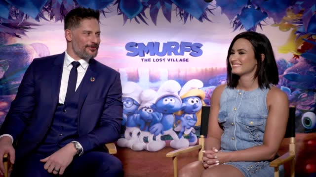 Interview with Demi Lovato and Joe Manganiello ahead of the release of new aminated film Smurfs The Lost Village