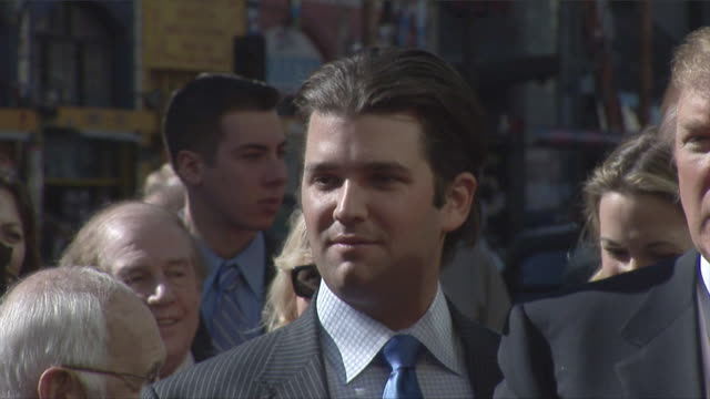interview with donald trump jr 2007 at hollywood walk of fame on january 16, 2007 where donald trump received his star on the hollywood walk of fame.... - 2007 stock videos & royalty-free footage