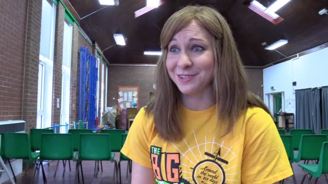 interview with double olympic champion joanna rowsell shand at cale green primary school in stockport where she was helping launch the big pedal 2017... - stockport bildbanksvideor och videomaterial från bakom kulisserna