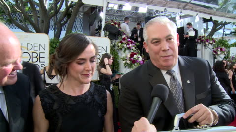 interview with ernst and young on the red carpet during the 74th annual golden globe awards - 74th annual academy awards stock videos & royalty-free footage