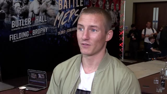 interview with former bantamweight world title holder paul butler at the launch of matchroom boxing's battle on the mersey in liverpool butler talks... - world title stock videos and b-roll footage