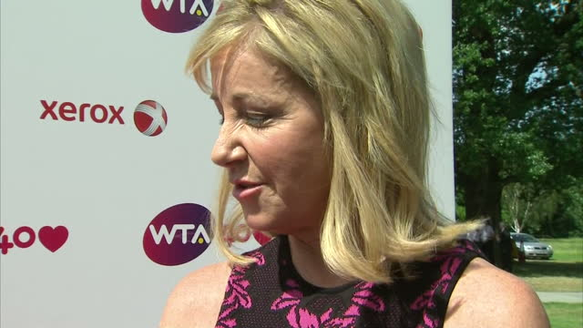Interview with former tennis champion Chris Evert on the background to the WTA 'I do think there are some rivallries actually'