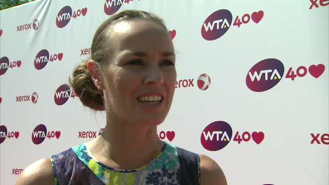 Interview with former tennis professional Martina Hingis 'it's been a tremendous effort what's been done over the last forty years'