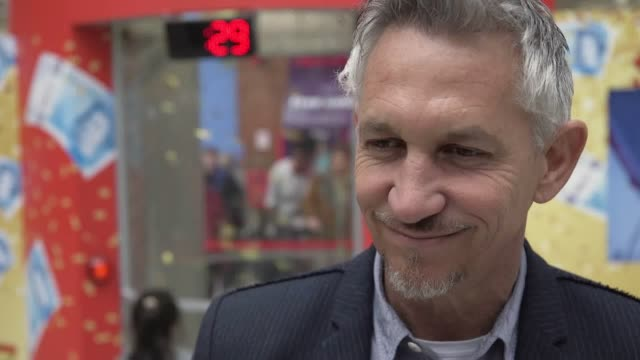 Interview with Gary Lineker on all things Premier League the FA Cup and running for Prime Minister at the Walkers Pay Packets booth in Victoria...