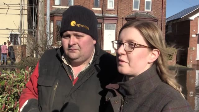 interview with george st residents becky and adam petch who have been moving furniture in their home which is on the very edge of the flood waters... - keypad stock videos & royalty-free footage