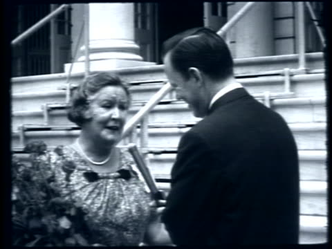 interview with gertrude ederle queen of the waves at city hall 33 years after she became the first woman to swim across the english channel - gertrude ederle stock videos & royalty-free footage
