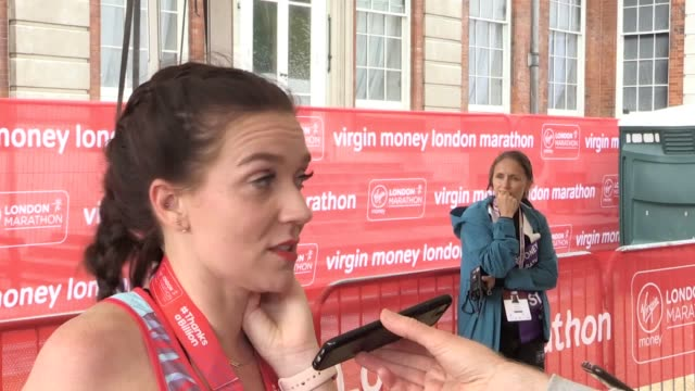interview with great british bake off winner candice brown on her first marathon run who says she was running it for her late grandfather who had... - london marathon stock videos & royalty-free footage