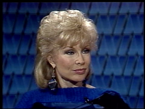 interview with i dream of jeannie actress barbara eden barbara eden on working on films versus musicals on april 17 1984 in new york new york - audio electronics stock videos & royalty-free footage