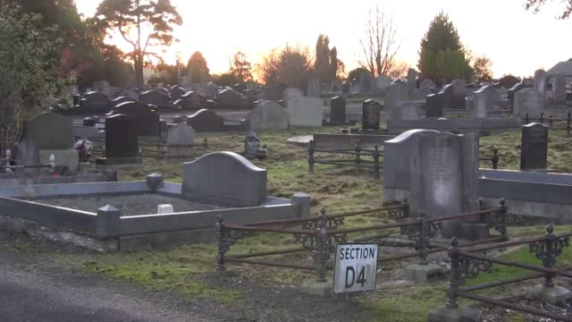 interview with irish author peter mccabe who has written a book about dundonald cemetery in east belfast. mccabe says the book features details on... - human interest stock videos & royalty-free footage