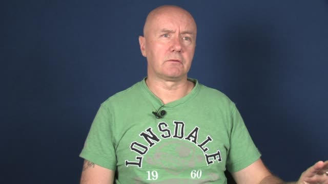 interview with irvine welsh on drugs in scotland at new york daily news on september 24 2012 in new york ny - new york daily news stock videos and b-roll footage