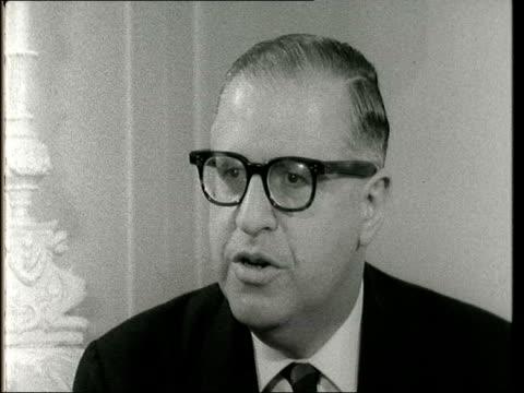 interview with israeli foreign minister abba eban; england: london: foreign office: int abba eban interview sof - ピーター・スノウ点の映像素材/bロール