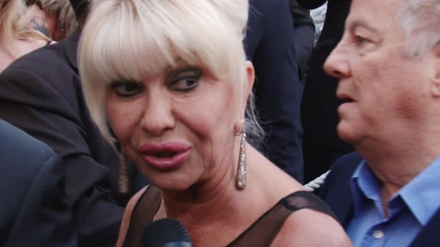 interview with ivana trump quintessentially cannes footage on may 25, 2011 in cannes, france - roberto cavalli designer label stock videos & royalty-free footage