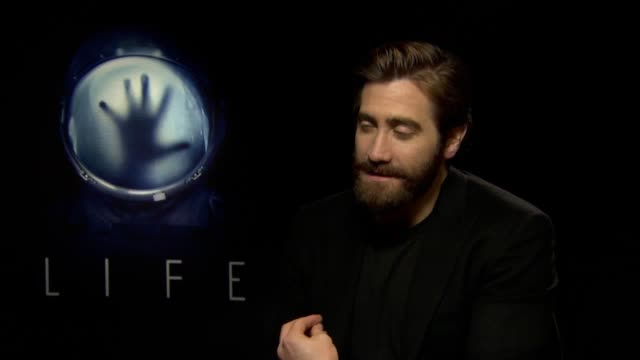 Interview with Jake Gyllenhaal star of Sci Fi horror Life where an international space crew discovers life on Mars He discusses having fun making the...