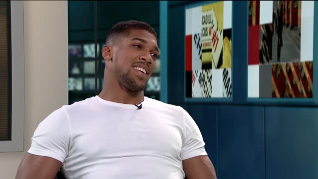 interview with joshua anthony on winning the british heavyweight title gir int anthony joshua interview sot - heavyweight stock videos and b-roll footage