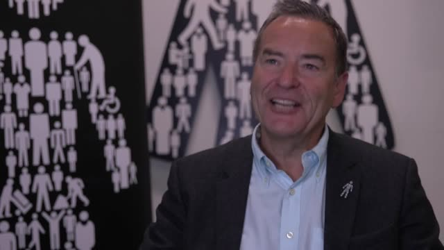 interview with journalist and presenter jeff stelling ahead of his charity walk where he will undertake 15 marathons in 15 days in a 'march4men' for... - prostate stock videos and b-roll footage