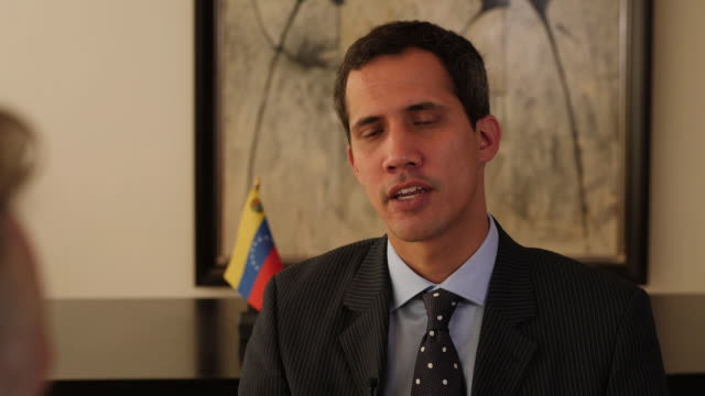 interview with juan guaido the interim president of venezuela. speaking about threats to his life and living under a dictatorship. - venezuela stock videos & royalty-free footage