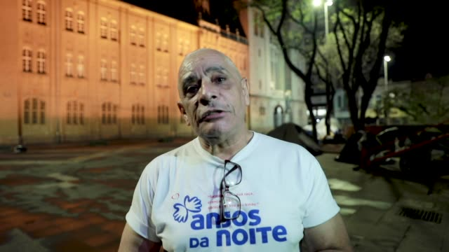 interview with kaka ferreira founding president of 'anjos da noite' who gives his testimony about his social work in downtown on august 29 2020 in... - 25 29 years stock videos & royalty-free footage