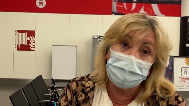 interview with kathy kirby as she returned home from faro, portugal. thousands of uk tourists scrambled to leave portugal before new coronavirus... - leaf stock videos & royalty-free footage