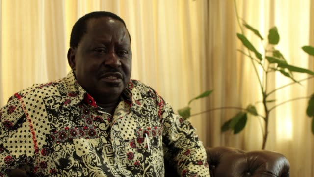 interview with kenyan opposition leader raila odinga on the governments management of recent attacks military engagement in somalia and building a... - raila odinga stock videos and b-roll footage