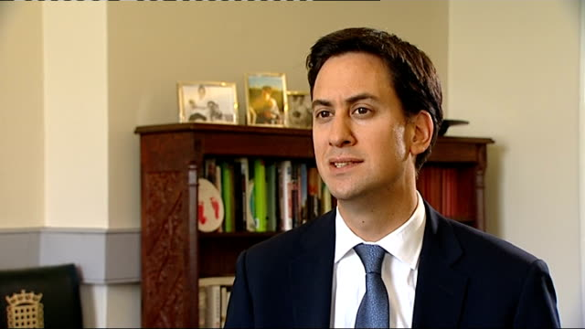 Interview with Labour leader Ed Miliband MP ENGLAND London INT Ed Miliband MP interview SOT What we need is a plan for growth here at home and across...