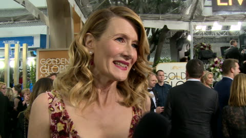 interview with laura dern on the red carpet during the 74th annual golden globe awards - 74th annual academy awards stock videos & royalty-free footage