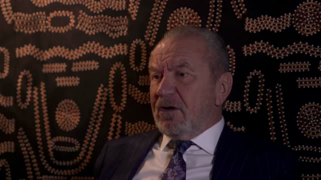 interview with lord sugar ahead of the 13th season of the apprentice discussion covers lord sugar's view on solving the gender pay gap and pay... - alan sugar stock videos and b-roll footage