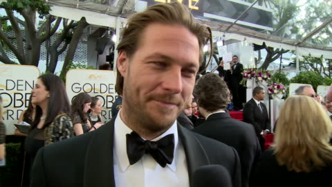 interview with luke bracey on the red carpet during the 74th annual golden globe awards - 74th annual academy awards stock videos & royalty-free footage