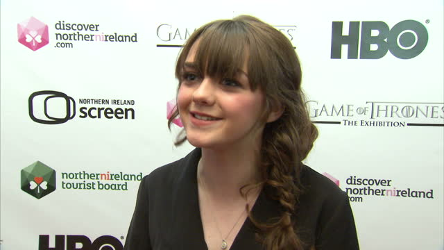 Interview with Maisie Williams Actress on Game of Thrones and why it's a success Interview with Maisie Williams on June 07 2013 in Belfast Northern...