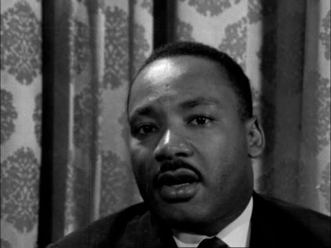 interview with martin luther king jr england london chapter housems and cs martin luther king interview sofi think it's a fact now and everybody know... - india politics stock videos & royalty-free footage