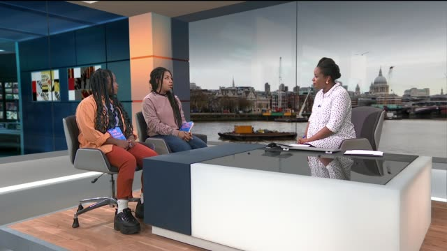 Interview with members of GalDem ENGLAND London GIR INT Charlie BrinkhurstCuff and Niellah Arboine LIVE STUDIO interview SOT