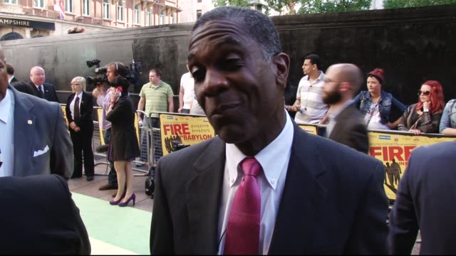 Interview with Michael Holding Fire in Babylon European Premiere on May 09 2011 in London England