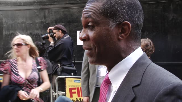 interview with michael holding fire in babylon european premiere on may 09, 2011 in london, england - one mature man only stock videos & royalty-free footage
