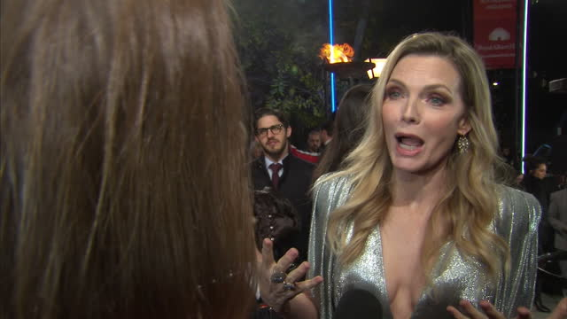Interview with Michelle Pfeiffer on the red carpet at the world premiere of Murder on the Orient Express speaking about the scandal of sexual abuse...