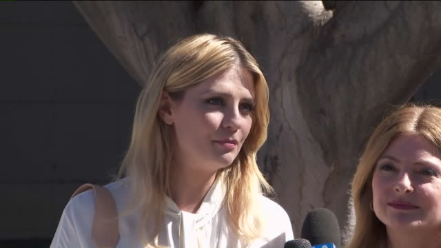 interview with mischa barton outside of court after filing 'revenge porn' case . - mischa barton stock videos & royalty-free footage