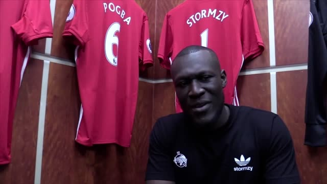 interview with music artist stormzy at manchester united's megastore. stormzy visited the manchester united training ground as he continues to... - megastore stock videos & royalty-free footage