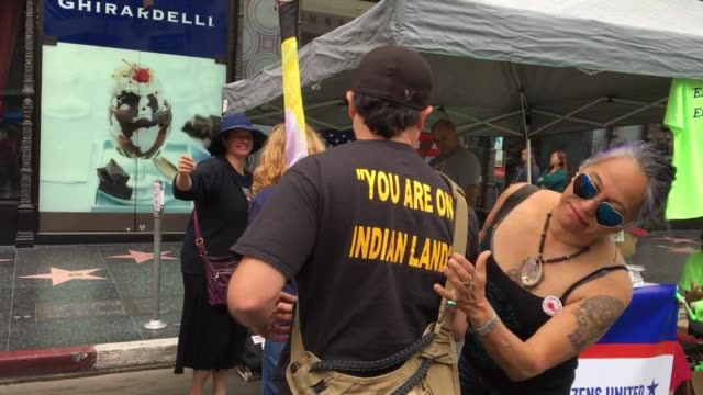 interview with native american protesters interview with organizer the roll speakers and b roll - minority groups stock videos & royalty-free footage