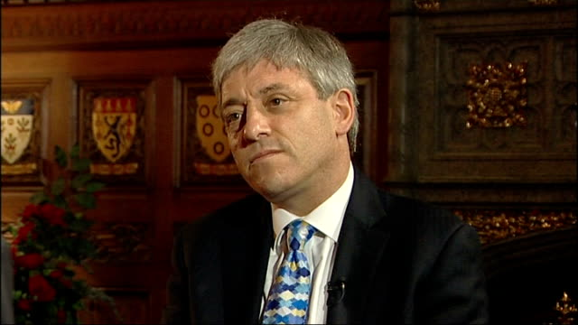 interview with newly elected speaker john bercow; england: london: int john bercow interview sot - on whether he is a reformer and when the reform... - 改革論者点の映像素材/bロール