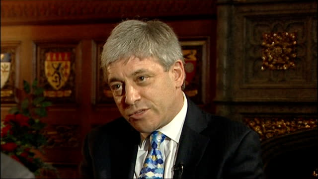 vidéos et rushes de interview with newly elected speaker john bercow; john bercow interview continues sot - on whether many labour mps voted for him to spite the tories... - président d'organisation