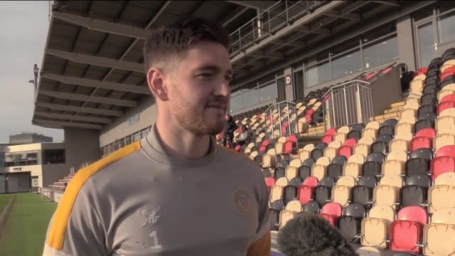 interview with newport goalkeeper joe day whose wife gave birth to twins during the team's win over middlesbrough last week newport take on... - middlesbrough stock videos and b-roll footage