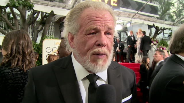 interview with nick nolte on the red carpet during the 74th annual golden globe awards - 74th annual academy awards stock videos & royalty-free footage