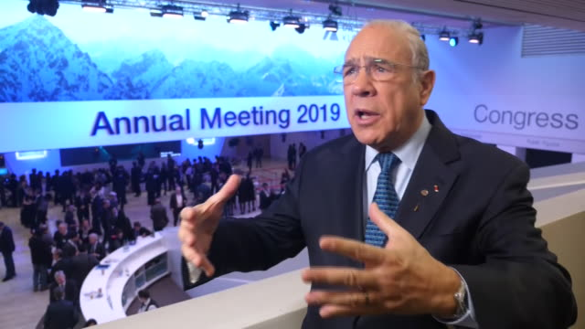 PART 1 Interview with OECD Secretary General José Ángel Gurría speaking on threat to democracy caused by economic problems globally The head of the...