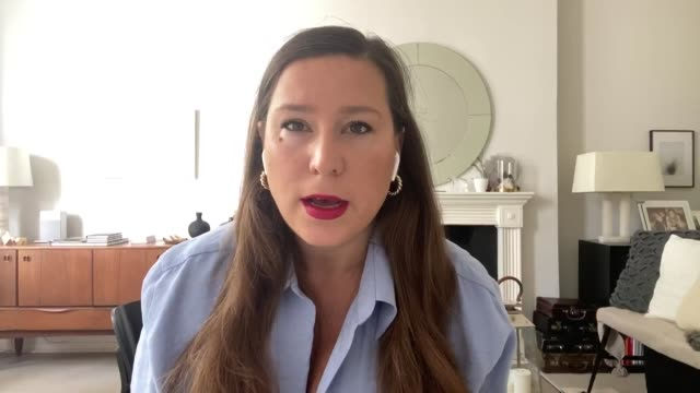 interview with oksana pyzik biochemist at university college london as the government changed the rules for face coverings in schools in england... - biochemist stock videos & royalty-free footage