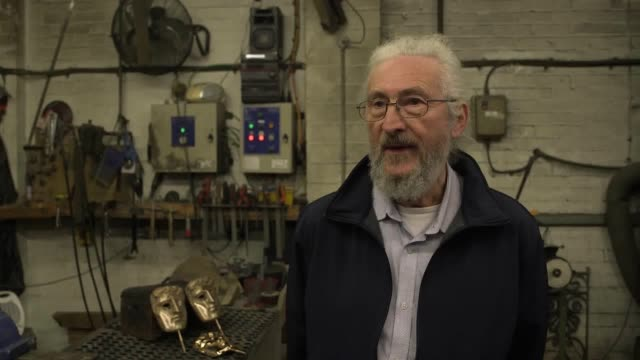 interview with patrick helly who works as a technical adviser at the new pro foundries factory in west drayton, london, who have been making the... - bafta mask stock videos & royalty-free footage